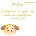 Significado do nome Mateus