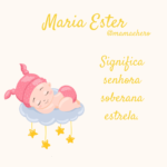 Significado do nome Maria Ester